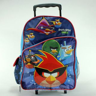 Angry Birds Space Super Heroes 16 Roller Backpack   Book Bag Rolling