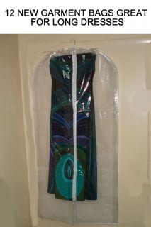DOZ Breathable Storage Plastic Garment Bags 4 Dresses
