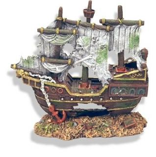 Sunken Pirate Ship wreck 1520 ~ aquarium ornament fish tank decoration