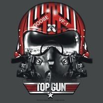 Top Gun Movie Goose Helmet Anthony Edwards Tee Shirt Adult S 3XL
