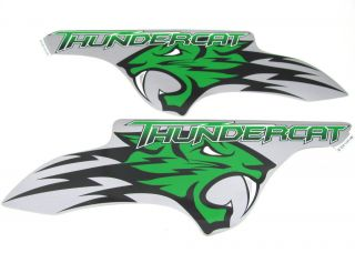 Arctic Cat Thundercat 1000 ATV Left & Right Side Decals Silver & Green