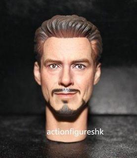Custom 1/6 Tony Stark Robert Downey Jr. head The Avengers iron man