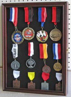 Lapel Pin Medal Buttons Patches Ribbon Display Case Shadow box Cabinet