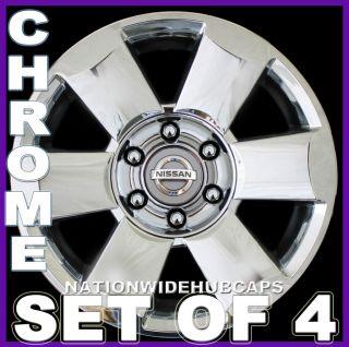 SET OF 4 18 TITAN ARMADA CHROME Wheel Skins Hub Caps Rim Covers 6