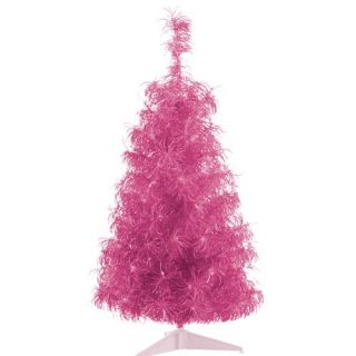 PINK Tinsel Tree w/ 50 mini Lights NEW IN BOX Christmas Valentine Day