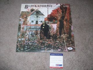 BLACK SABBATH GEEZER BUTLER signed autographed VINYL RECORD LP PSA/DNA