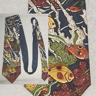 Under the Sea Neck Tie scuba diver tropical ocean fish aquarium water
