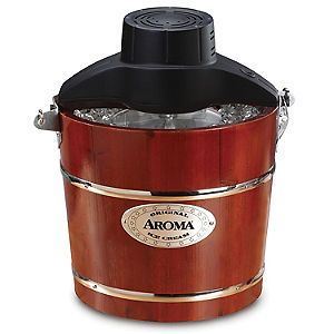 Maker Aroma 4 QT Traditional Hand Crank And Electric Aroma Ice Maker