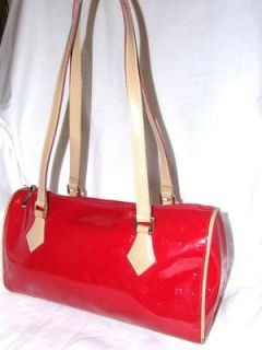 ARCADIA RED AND TAN LEATHER TOTE BAG MADE IN ITALY