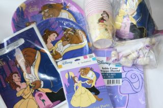 Disney PRINCESS BEAUTY & THE BEAST Birthday Party Supplies ~ Hard to