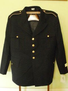 Army Enlisted Mens Blue wool Dress Coat Jacket Tunic Current ASU