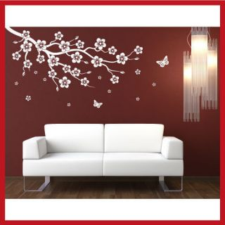 Plum Blossom Flower Floral Tree WALL STICKER DECAL
