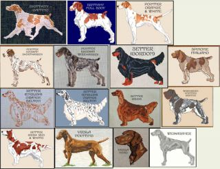 POINTER & SETTER COUNTED CROSS STITCH PATTERNS
