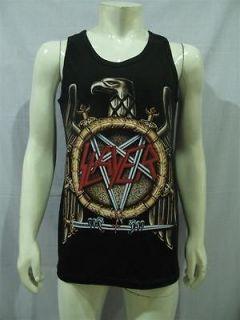 SLAYER Band Black Eagle Logo T Shirt Tank Top Mens XL