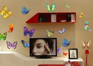 Butterfly Wall Sticker Decor Decals Removable Art Kids Nursery Room