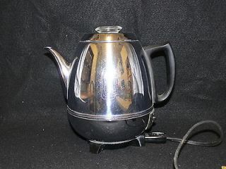 Vintage Art Deco GE Pot Belly Automatic Percolator Coffee Pot 9 Cup