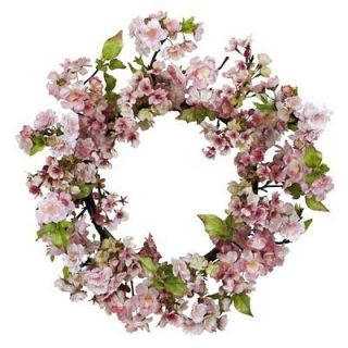 Nearly Natural 24 Inch Cherry Blossom Wreath Home Decoration Flowers