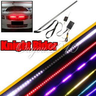 Color 48 LED RGB 56cm Flash Car Strobe Knight Rider Light Strip Kit