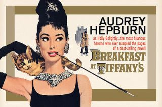 Audrey Hepburn Breakfast At Tiffanys Cover Poster