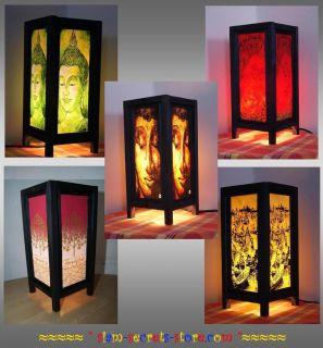 Asian rice paper Lantern Thai Table lamp  5 options