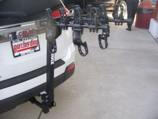 NEW GM THULE TRAILER HITCH MOUNTED 4 BIKE CARRIER RACK 19257869