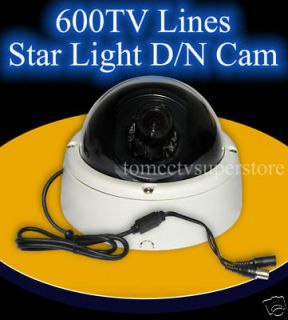 Axis Star Light Dome Camera Sony 1/3 CCD day/Night auto switch OSD
