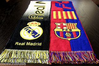 REAL MADRID / BARCELONA SCARF RONALDO / MESSI Soccer Fan Match Jersey