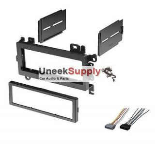 CAR STEREO RADIO DASH INSTALL KIT PLASTIC INSTALLATION W/ Wire Harness