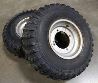 Yamaha YFM 200 Moto 4 ATV Front Wheels Tires