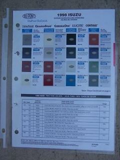 Auto Refinish Paint Color Chip Sample Chart DuPont Exterior 2 Tone J