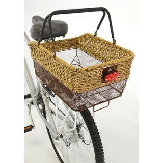 2012 Axiom Market Deluxe Wicker Cycling Bicycle Shopping Rear Pannier