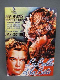 4x6 Film Postcard 1946 LA BELLE ET LA BETE Jean Cocteau