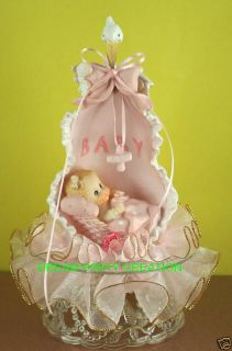 BABY GIRL BLANKET Baby Shower CAKE TOPPER Organza Decor