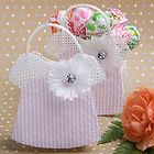 60) Mesh Pink Baby Dress Favor Candy Bag Shower 1st Birthday Clothes