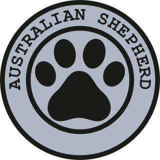 1x AUSTRALIAN SHEPHERD PAW PRINT SEAL TRACK FUNNY STICKER DOG PET