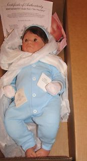 Lee Middleton Doll First moments  Awake boy 20 NIB  COA