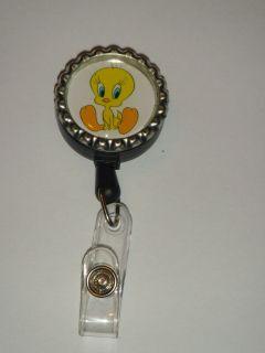 Tweety Bird ID Name Reel Retractable badge Holder