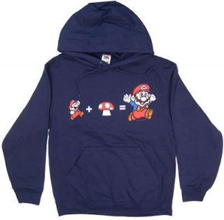 XL  Official NINTENDO MARIO HOODED SWEATSHIRT  HEAVYWEIGHT Hoodie  Men