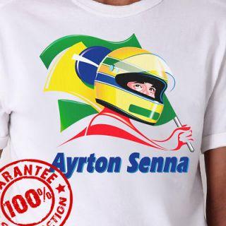Ayrton Senna F1 Racing T Shirt Formula 1 All Sizes XS 3XL #737