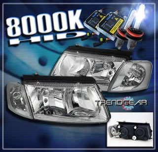 97 00 VW PASSAT B5 CRYSTAL HEAD LIGHTS+CORNER+ HID XENON SIGNAL LAMP