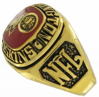 Balfour Ring Football Nfl Team Washington Redskins Sz 12
