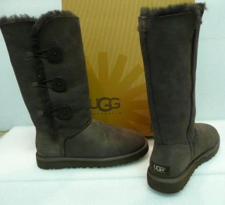 Ugg Bailey button triplet tall boots chocolate brown New