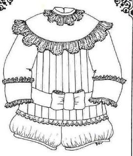ANTIQUE BABY BOY Doll CHRISTENING SUIT Clothes Pattern~Easy Sew