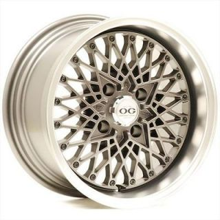 Axis OG San 15x8 4x100 +25 Offset Graphite Honda Acura Wheels Rims