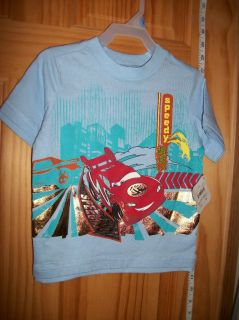 NEW Disney Pixar Cars Baby Clothes 24M Infant Boy Tee Shirt TOP Blue T