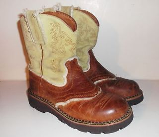 WOMENS ARIAT 14970 FATBABY WESTERN cowgirl BOOTS Sz 6 B SOFT LIME