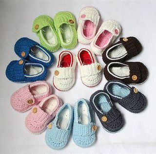 Handmade Crochet Shoes Newborn Baby Boy Girl Photograph New 8 Colors