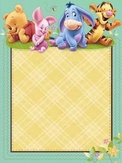 the POOH BABY SHOWER Printable INVITATIONS ~ Party Supplies Invites