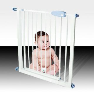 New Easy Open Extra Wide Metal Gate Baby Child Pet Dog Door Safety