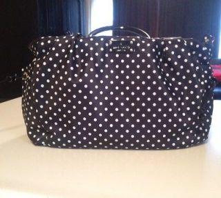 NWT Kate Spade Black Spot Stevie Baby Bag Diaper Purse $395.